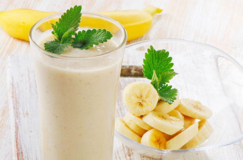 Smoothie de banana dulce-picant