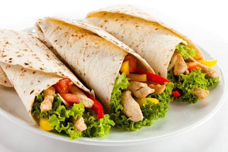 Burritos dietetici, cu carne de curcan